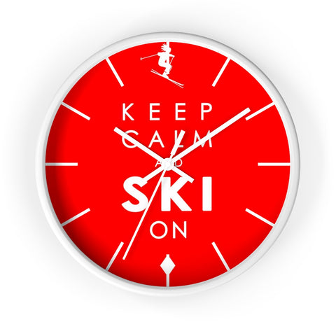 Wall clock - KEEP CALM ski on