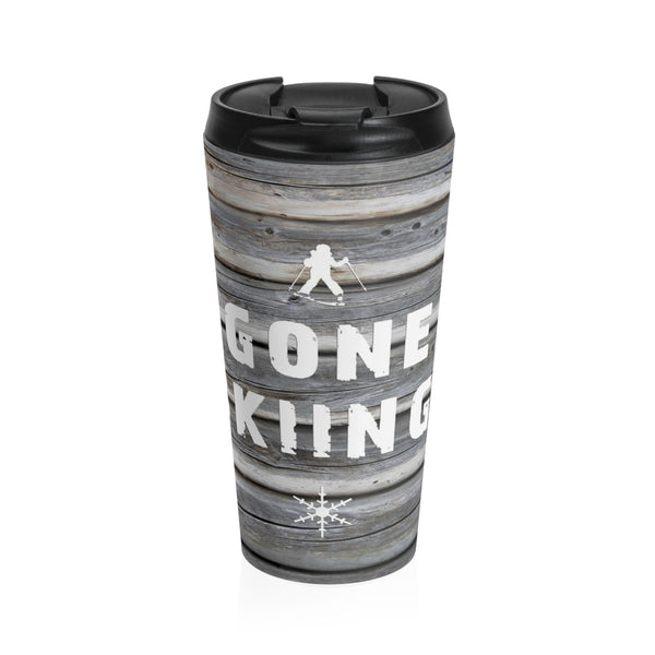 Stainless Steel Travel Mug - Gone Skiing
