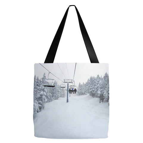Chair Lift Vermont - Tote Bag