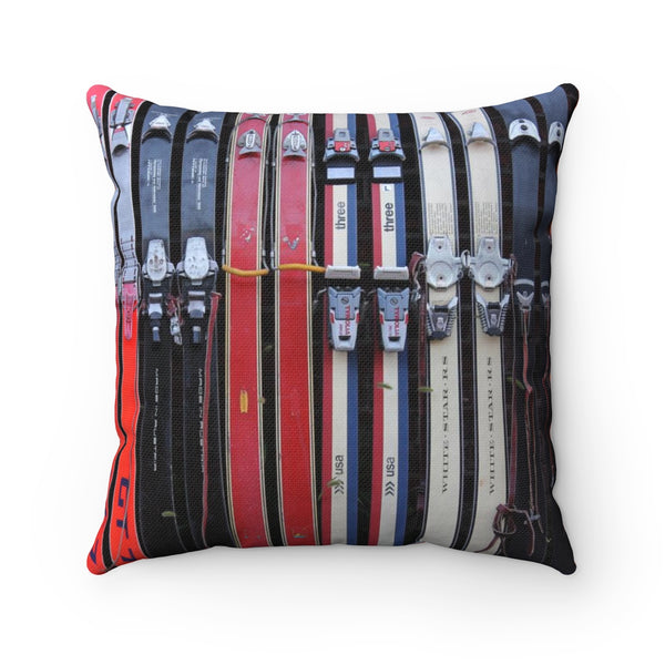 Vintage Ski - Throw Pillow