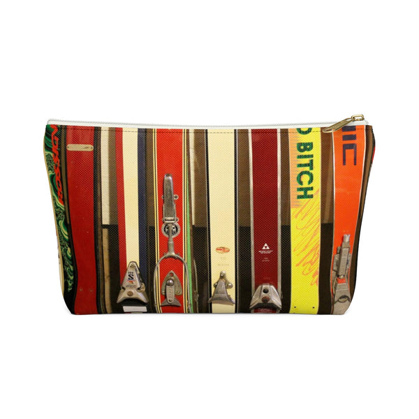 Vintage Skis and Bindings - Accessory Pouch w T-bottom