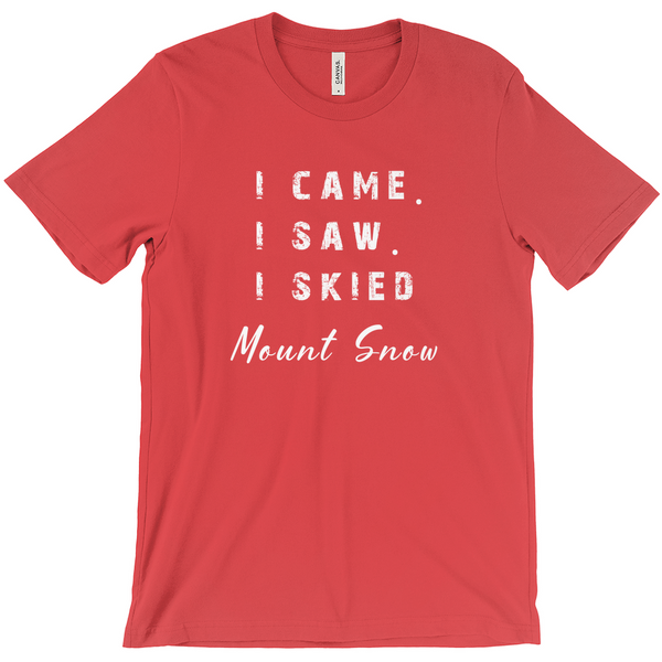 I came I saw I skied Mount Snow - T-Shirt