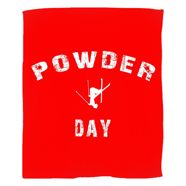 Fleece Blanket - Powder Day Red