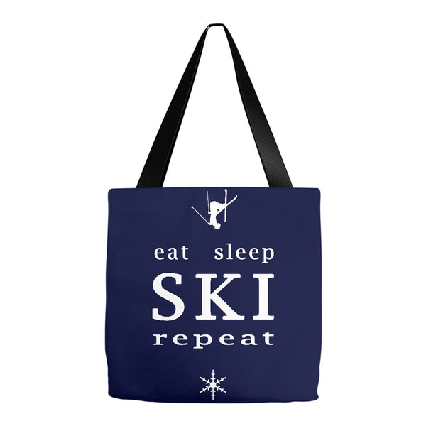 Eat Sleep SKI repeat - Tote Bag