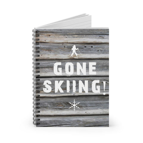 Gone Skiing - Spiral Notebook