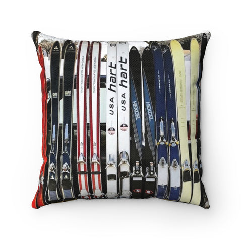 Vintage Skis - Throw Pillow
