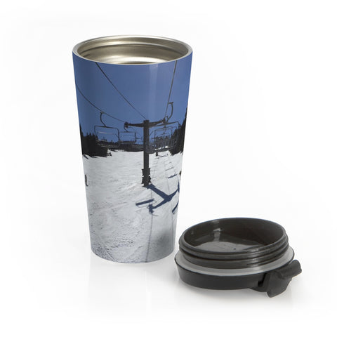 Stainless Steel Travel Mug - Blue Bird Day