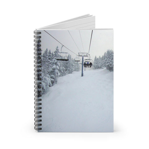 Chair Lift Vermont - Spiral Notebook