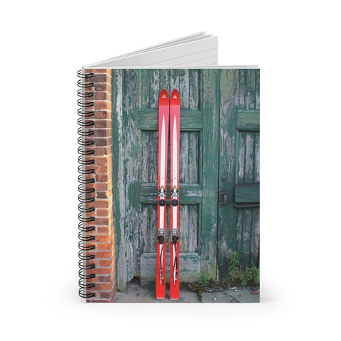 Spiral Notebook - Red Vintage Ski