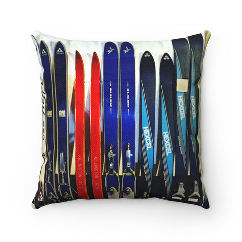 Vintage Ski Collection - Throw Pillow