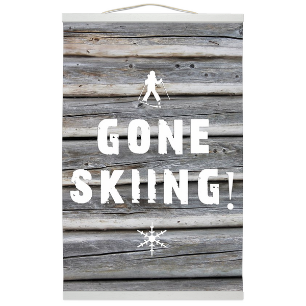 Hanging Canvas Print - Gone Skiing