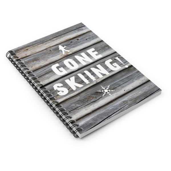 Spiral Notebook - Gone Skiing