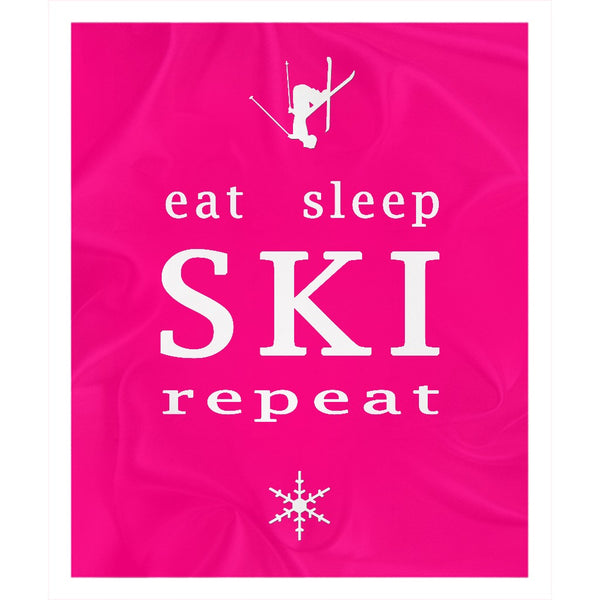 Eat Sleep SKI Repeat - Throw Blanket