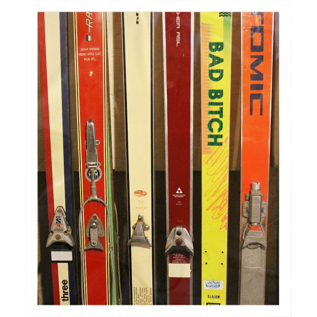Skis and Bindings - Throw Blanket