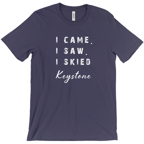 I came I saw I skied Keystone - T-Shirt