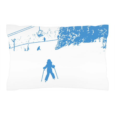 Little Skier Blue - Pillow Sham
