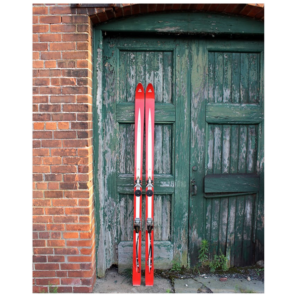 Red Skis Green Door - Poster