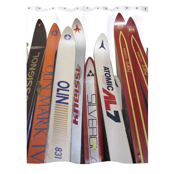 Skis - Shower Curtain