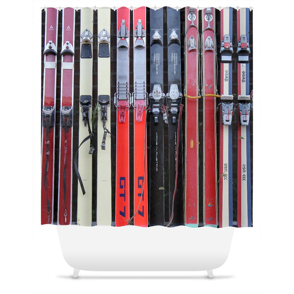Vintage Skis - Shower Curtain