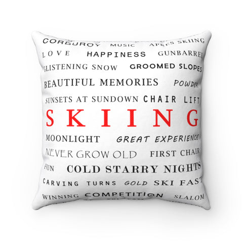 Skiing - Throw Pillow