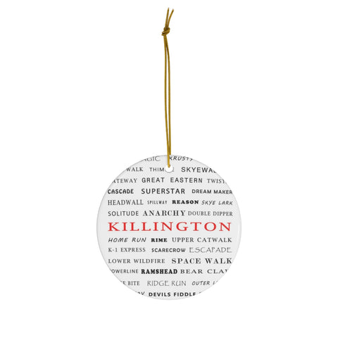 Killington Trails - Round Ceramic Ornament