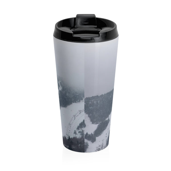 Stainless Steel Travel Mug - Ski Aholic
