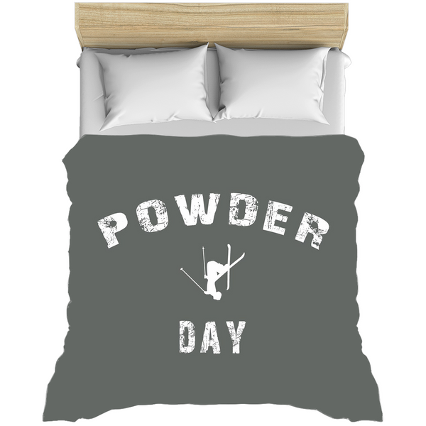 Powder Day Gray - Duvet Cover