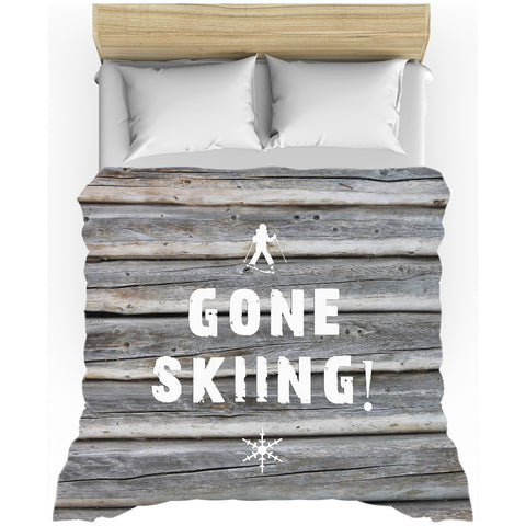 Gone Skiing - Duvet Cover