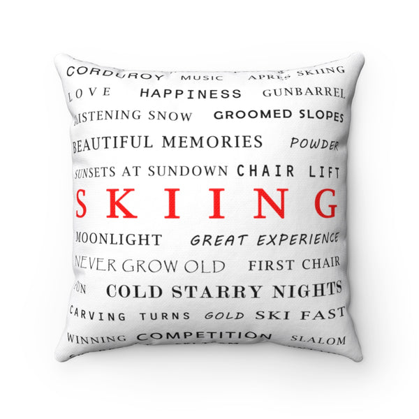 Skiing Memories - Throw Pillow