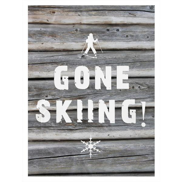 Gone Skiing - Throw Blanket