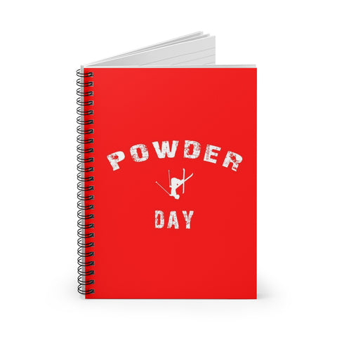 Spiral Notebook - Powder Day - Red