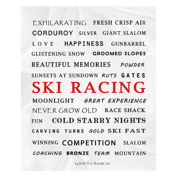 Ski Racing - Throw Blanket