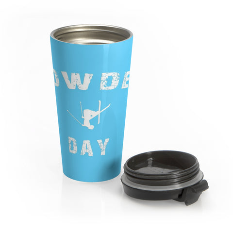 Stainless Steel Travel Mug - Powder Day