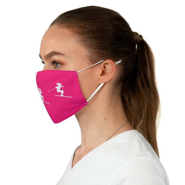 Skier Pink - Fabric Face Mask