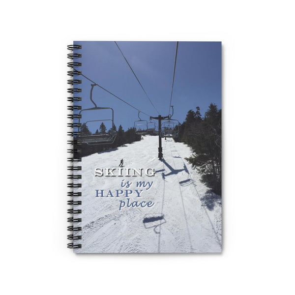 Spiral Notebook - Skiing is my Happy Place