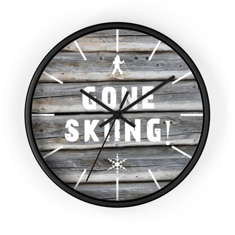 Wall Clock - Gone Skiing