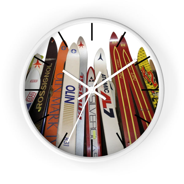 Wall Clock - Skis