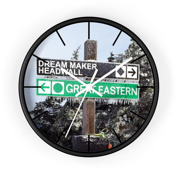 Wall Clock - Ski Trail Sign