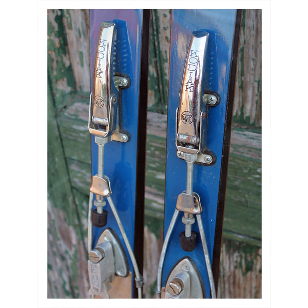 Vintage Ski Bindings - Throw Blanket