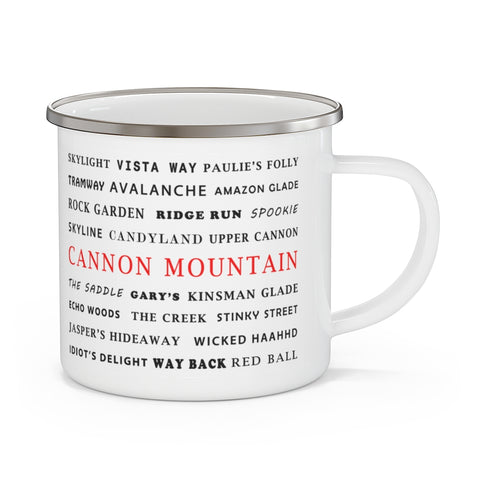 Cannon Mountain - Enamel Camping Mug
