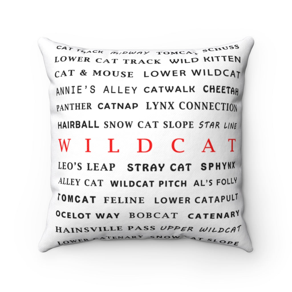 Skiing Trails Wildcat - Throw Pillow