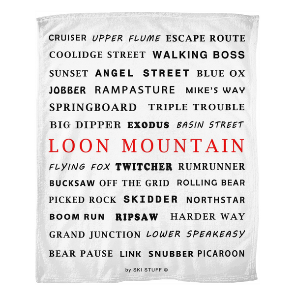 Loon Mountain - Throw Blanket
