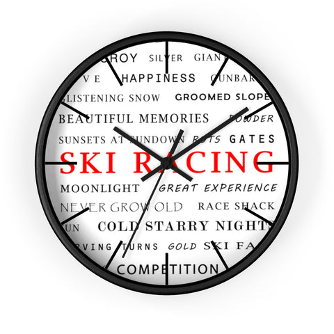 Wall Clock - Ski Racing