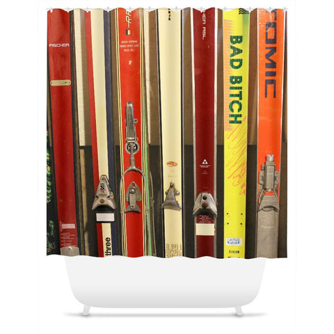 Skis and Bindings - Shower Curtain