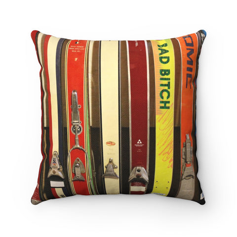 Skis and Bindings - Throw Pillow