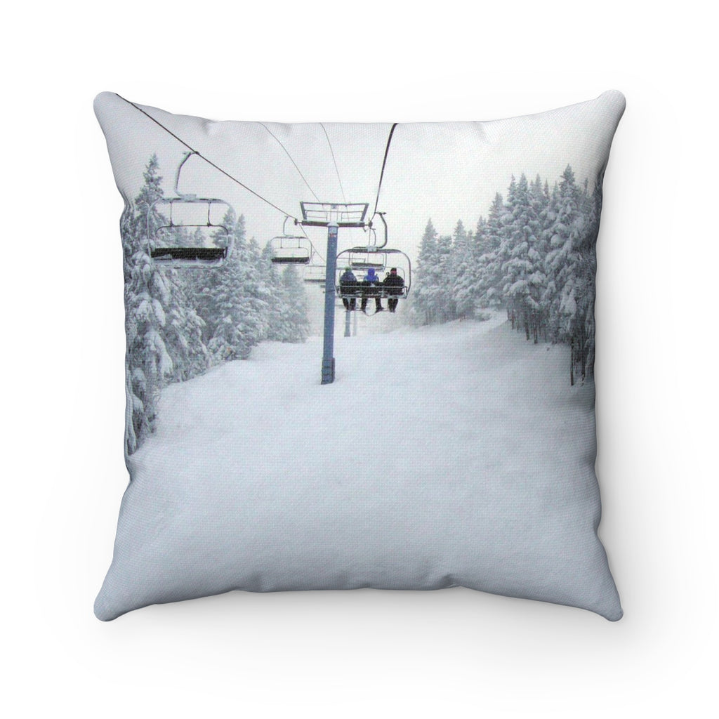 Chair Lift Vermont - Throw Pillow