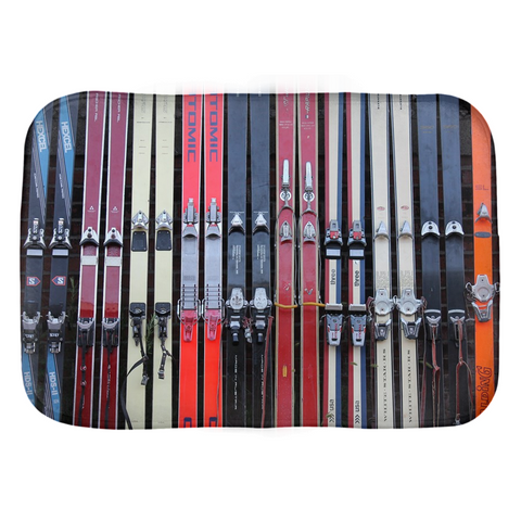 Vintage Skis - Bath Mat