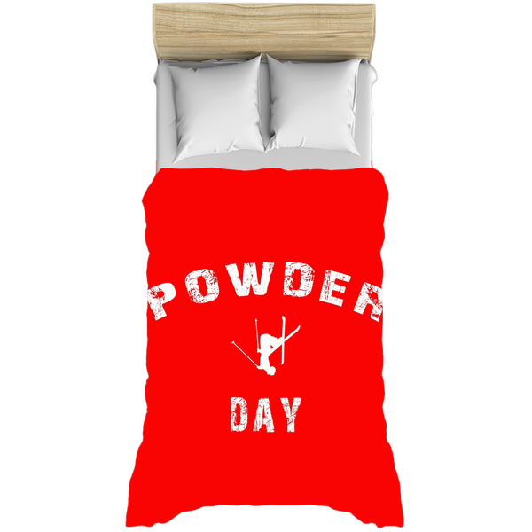 Powder Day Red - Duvet Cover