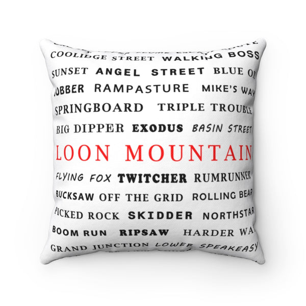 Skiing Trails Loon Mountain - Throw Pillow