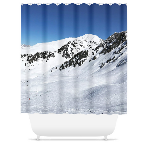 Skiing Tyrol - Shower Curtains